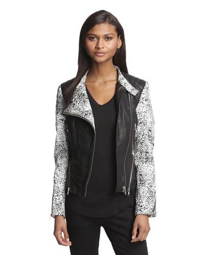 W118 by Walter Baker Women's Liz Leather Moto Jacket  [Black]