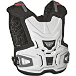 Fly Racing Body Vest Lite Youth Roost Deflector MotoX/Off-Road/Dirt Bike Motorcycle Body Armor - White / Large/X-Large