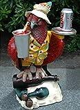 Parrot Butler Statue bird drink serving silver tray 2' waiter restaurant kitchen