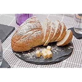 Platos individuales Slate 25 cm de diámetro mantel individual redondo/plato/tabla de cortar queso, negro