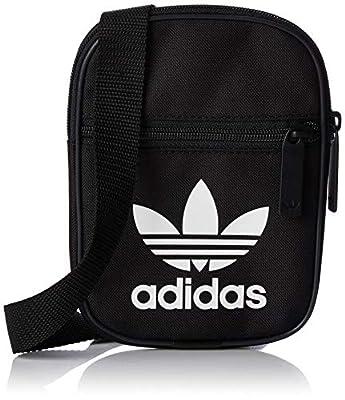 [アディダス オリジナルス]Adidas Originals Trefoil Festival Bag ショルダーバッグ Nqb30 ブラックXホワイトdv2405