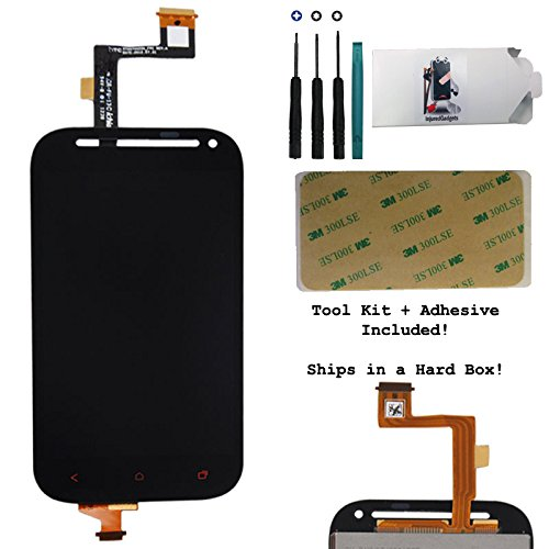 Lcd Display Touch Screen Glass Panel Digitizer Assembly Repair Part For Htc One Sv S V 4G Lte (Red Buttons)