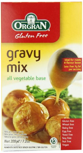 OrgraN Gluten Free Gravy Mix, All Vegetable Base 7.2 oz boxes (Pack of 8)
