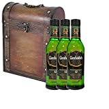 3 x Glenfiddich Special Reserve 12 Year Old Malt Whisky 35cl Half Bottles in Antique Style Gift Box with Hand Crafted Gifts2Drink Tag