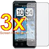 iFlash® Bubble Free Screen Protector: Crystal Clear edition - For Sprint HTC EVO 3D - (3Pack) Retail Packaging