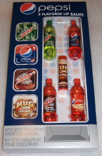 Lotta Luv Pepsi Bottle Set of 5 Flavored Lip Balms