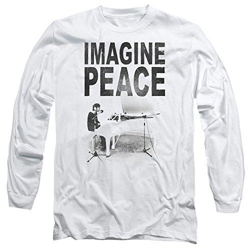 John Lennon - Imagine Peace - Long-Sleeve Adult T-Shirt - Large (John Lennon Wheels compare prices)