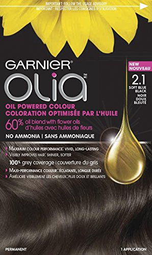 Garnier Olia Oil Powered Permanent Hair Color, 2.1 Soft Blue Black (Hair Color Olia compare prices)