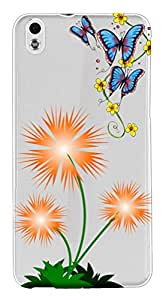 WOW Transparent Printed Back Cover Case For HTC Desire 816