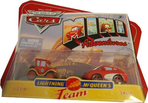 Disneys Cars Mini Adventures 2Pk Lightning McQueen Team Lizzie & Sally - 1