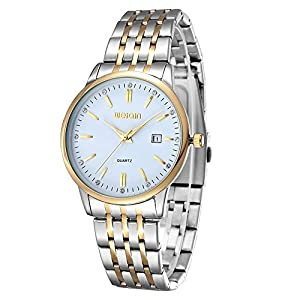 Elegant Men's Ultra-thin Gold Band Quartz Watch Fashion Casual Calendar Watch
