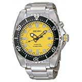 Seiko Men's SKA367 Dive Silver-Tone Watch ~ Seiko