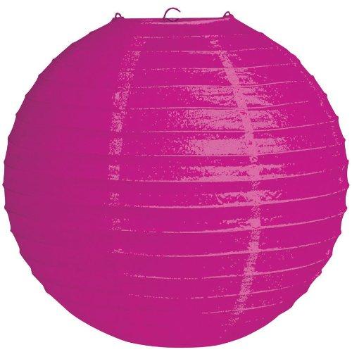 "Creative Converting 12"" Round Hanging Paper Lantern, Raspberry Pink"