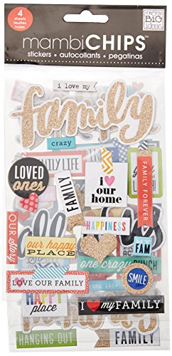 "& Me My Big Ideas-Set di fogli, motivo: I Love My Family """