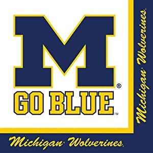 Buy Creative Converting Michigan Wolverines Luncheon Napkins (20 Count) by Creative Converting