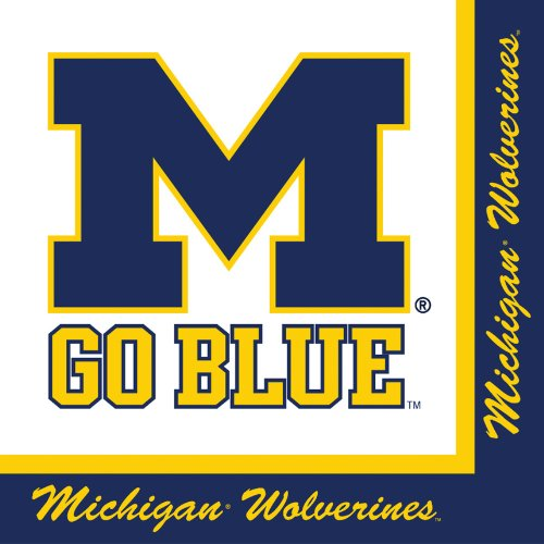 Creative Converting Michigan Wolverines Luncheon Napkins (20 Count)