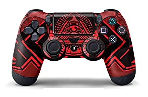 Designer Skin for PlayStation 4 Remote Controller PS4 - Conspiracy - Red