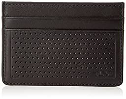 TUMI Men\'s Bowery Slim Card Case Id, Black, One Size