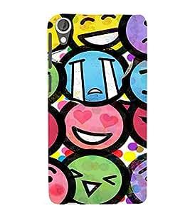 EPICCASE Emojis Mobile Back Case Cover For HTC Desire 820 (Designer Case)