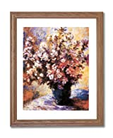 Claude Monet Flowers Wall Room Decor Contemporary Home Decor Wall Picture Oak Framed Art Print