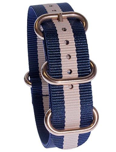 yves-camani-uni-radisson-montres-de-20-mm-de-bracelet-de-lotan-en-nylon-avec-bleu-or-rose-neuf