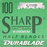 Sharp 100 Hi-Chromium Single Edge Shaving Razor Blades (Swiss Made)