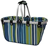 JanetBasket Blue Stripes Large Aluminum Frame Basket from Notions Marketing - Drop Ship
