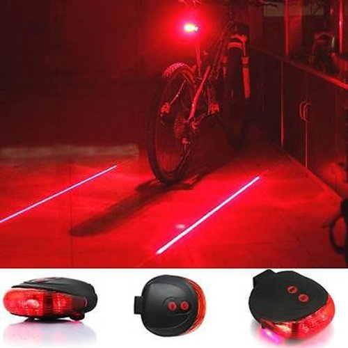 SQdeal® Bicycle Rear Light Waterproof Laser Beam Taillight for Safety