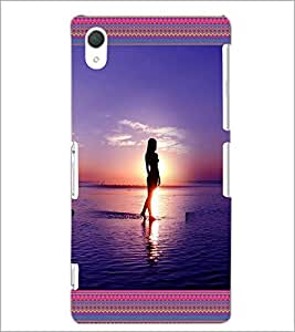 PrintDhaba Beach Girls D-4128 Back Case Cover for SONY XPERIA Z3 (Multi-Coloured)