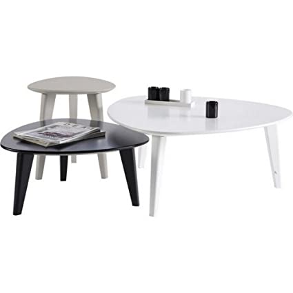 3er Set Couchtisch Sofatisch Beistelltisch Wohnzimmertisch Tisch Stone
