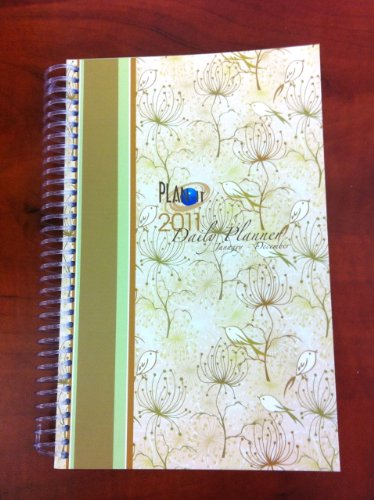 2011 Daily Fashion Day Planner Organizer Agenda (January 2011 Through December 2011)- Bird Stripe