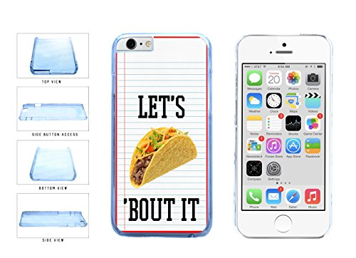 Let's Taco Bout It Clear Plastic Phone Case Back Cover Apple iPhone 6 Plus (5.5 Inches) includes BleuReign(TM) Cloth and Warranty Label