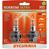 SYLVANIA H13 SilverStar Ultra High Performance Halogen Headlight Bulb, (Pack of 2)