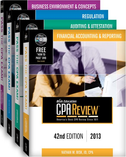 Bisk CPA Review: 4-Volume Set - 42nd Edition 2013 (Comprehensive CPA Exam Review 4-Volume Set)