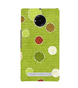 Fuson Premium Back Case Cover Pulka dots With Red Background Degined For YU Yuphoria::Micromax Yuphoria YU5010