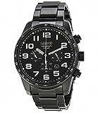 (セイコー) SEIKO Chronograph Black Dial Black Ion-plated Stainless Steel Men Watch クロノグラフ 黒 ダイヤル 黒 イオンメッキ ステンレス スチール メンズウォッチ [並行輸入品] LUXTRIT