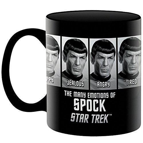 Collectible Star Trek The Many Emotions Of Spock Novelty Ceramic Coffee Mug