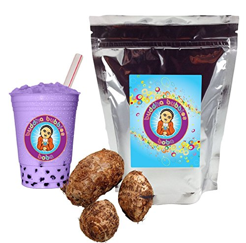 1 LB TARO smoothie powder with Fat Straws (Taro Powder Mix compare prices)