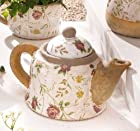 Porcelain Tea Pot - Floral Patterned with Contrasting Spout and Handle Product SKU: PL226843