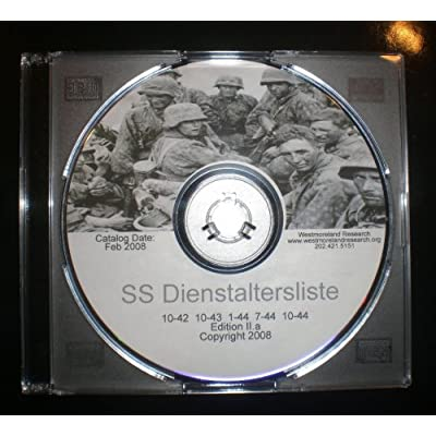 Amazon.com: SS Dienstaltersliste : 5 SS Officer Rank Lists on One DVD