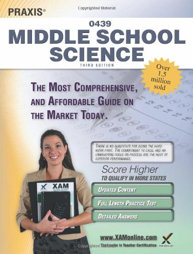 Praxis Middle School Science 0439 Teacher Certification Study Guide Test Prep