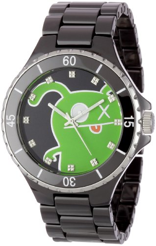 Ugly Doll Watches hot deal: Ugly Doll Men's 77008 Black Ceramic OX Watch