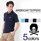 「並行輸入品」アメリカントッパーズ メンズ 半袖 鹿の子ポロシャツ アフロスカル 5色 (S/M/L/XL)