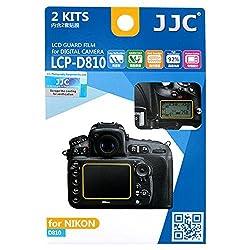 JJC LCP-D810 2KITS LCD Guard Film Camera Screen Display Protector Cover for Nikon D810