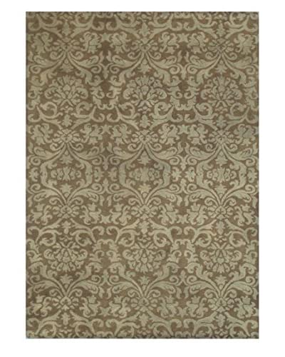 Petite Thistle Rug, Brown/Tan, 5' x 8'