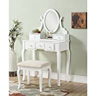 Roundhill Furniture Ashley Wood Make-…