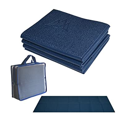 Khataland YoFoMat - Ultra Thick Best Foldable Yoga Mat with Travel Bag, Extra Long 72-Inch, Free From Phthalates & Latex