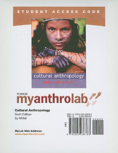 MyAnthroLab -- Standalone Access Card -- for Cultural...