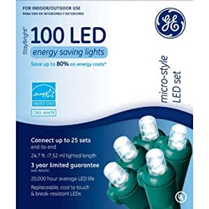 GE 100 Count Stay Bright Holiday Indoor Outdoor LED Mini Dome Mi