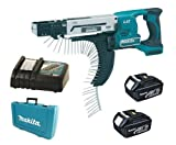 Makita 18V LXT BFR750 BFR750Z BFR750Rfe Screw Gun, 2 X BL1830 Batteries, DC18RC Charger And Case